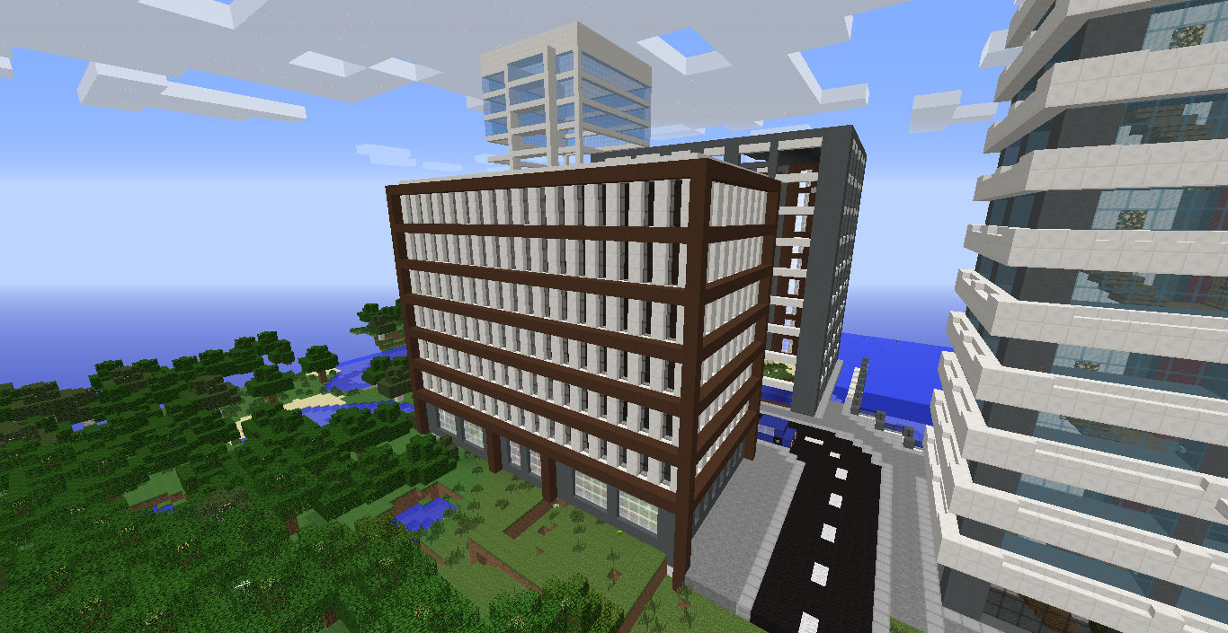 Construction vodka cr ation d 39 une ville moderne minecraft france - Immeuble moderne minecraft ...
