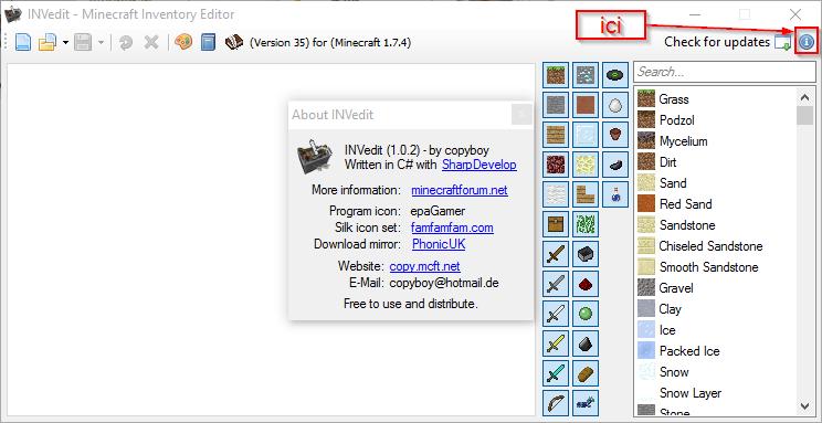 INVEdit pour minecraft 1 8 | Minecraft-France