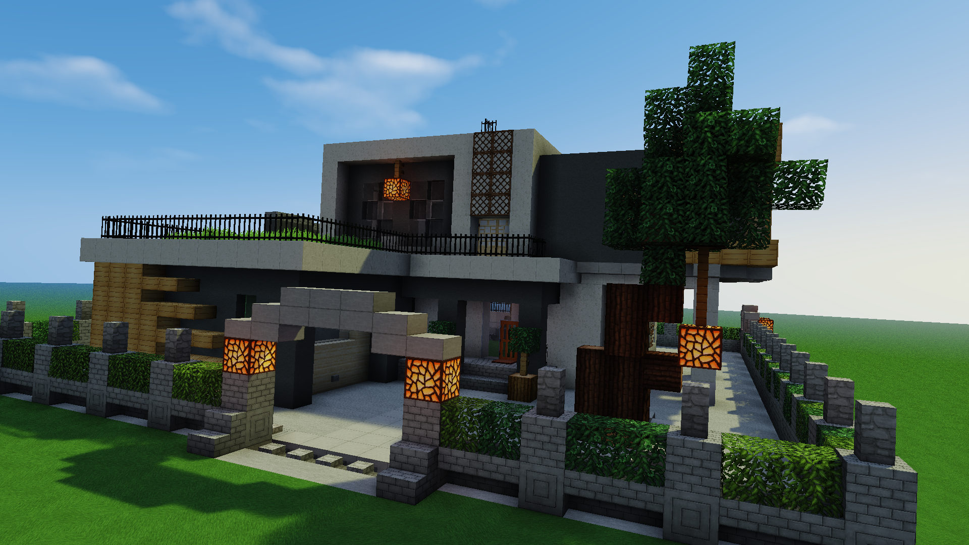 construction pavillon moderne mon premier minecraft