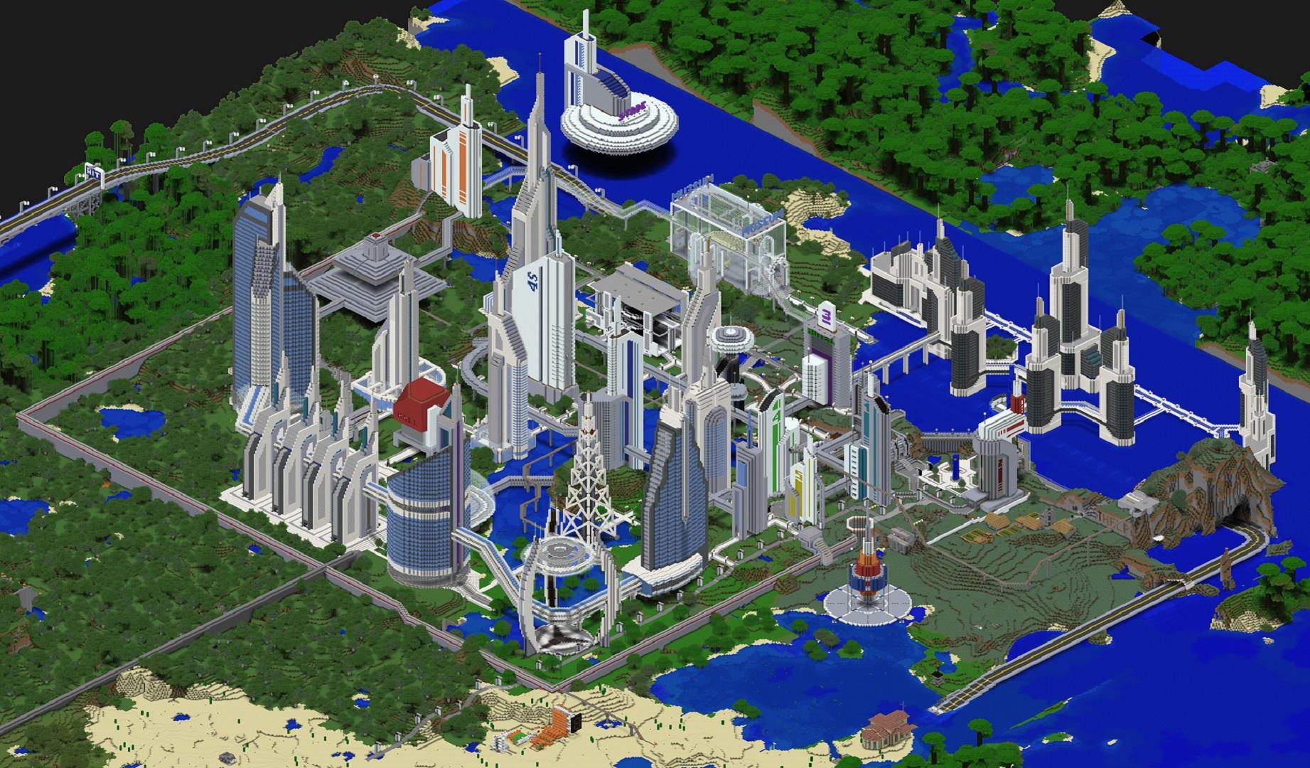 карты на майнкрафт 1.7.10 на город